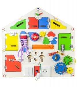 Доска дом большая развивающая GoodPlay 55х52х11 с подсветкой (D 004)