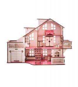 Кукольный дом 57х27х35 с гаражом