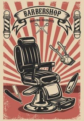 Кресла для барбершопов арт